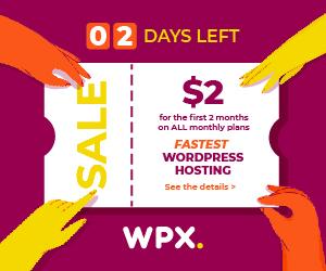 WPX Black Friday 2020 offer